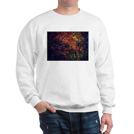 Fall leaves in stain glass Sweatshirt