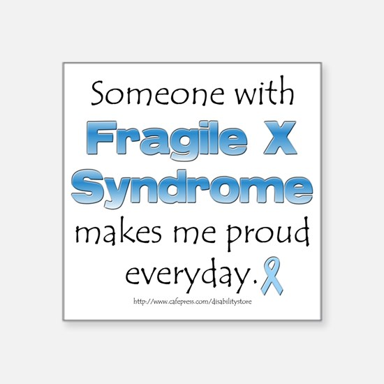 Fragile X Pride Rectangle Sticker