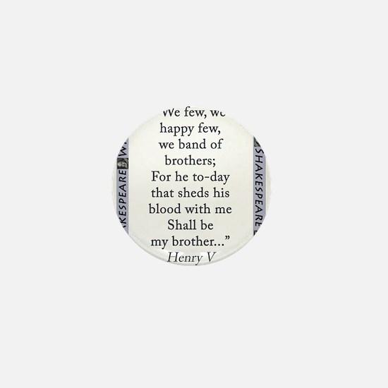 We Few, We Happy Few Mini Button