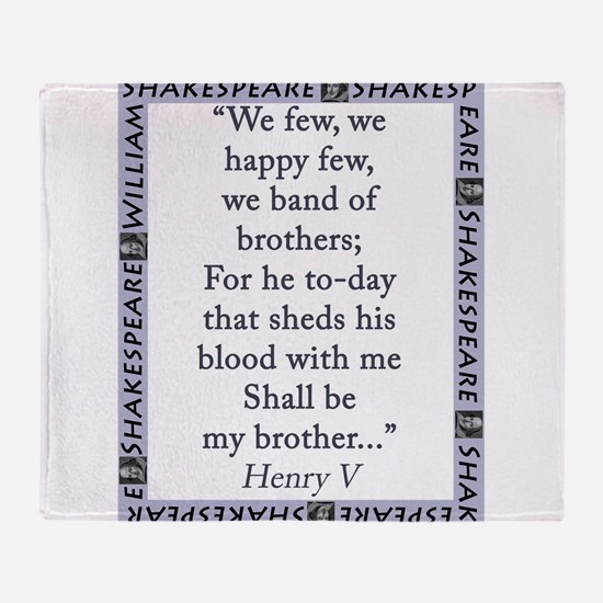 We Few, We Happy Few Throw Blanket