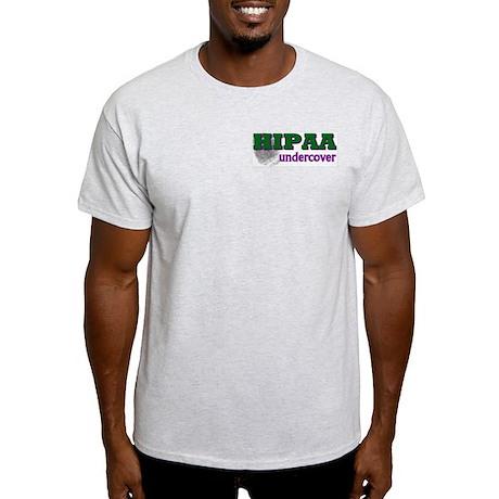HIPAA Undercover Ash Grey T-Shirt