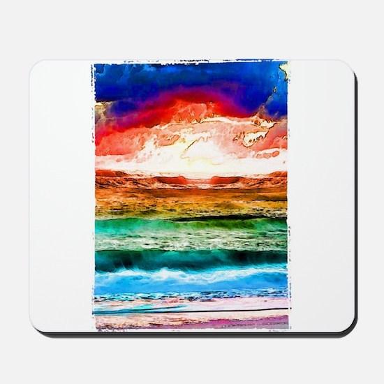 Rainbow tide Mousepad