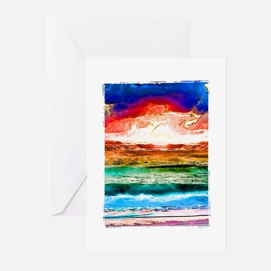 Rainbow tide Greeting Cards (Pk of 10)