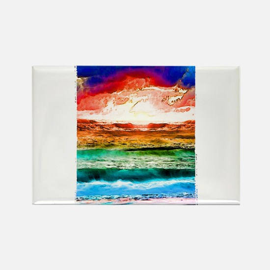 Rainbow tide Rectangle Magnet