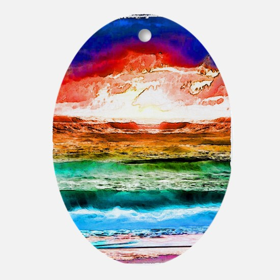 Rainbow tide Ornament (Oval)