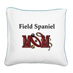 Field Spaniel Mom Square Canvas Pillow