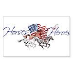 Horses4Heroes Logo Sticker (Rectangle 10 pk)
