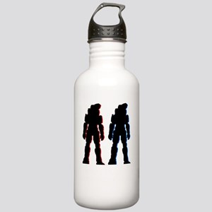 Red and Blue Stainless Water Bottle 1.0L