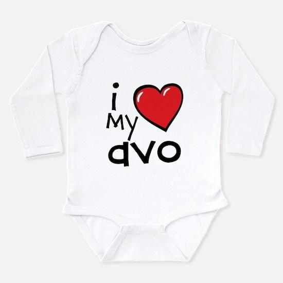 I Love My Avo Long Sleeve Baby Bodysuit
