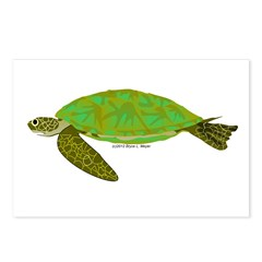 Green Sea Turtle Postcards (Package of 8)