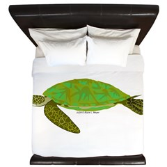 Green Sea Turtle King Duvet