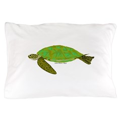 Green Sea Turtle Pillow Case