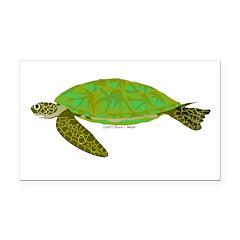 Green Sea Turtle Rectangle Car Magnet