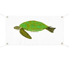 Green Sea Turtle Banner
