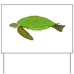 Green Sea Turtle Yard Sign