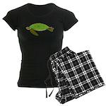 Green Sea Turtle Women's Dark Pajamas