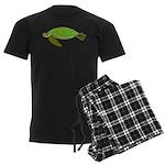 Green Sea Turtle Men's Dark Pajamas