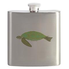 Green Sea Turtle Flask