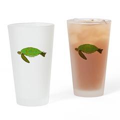 Green Sea Turtle Drinking Glass