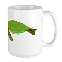 Green Sea Turtle Large Mug