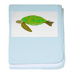Green Sea Turtle baby blanket