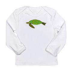 Green Sea Turtle Long Sleeve Infant T-Shirt
