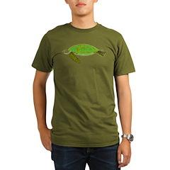 Green Sea Turtle Organic Men's T-Shirt (dark)