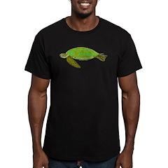 Green Sea Turtle Men's Fitted T-Shirt (dark)