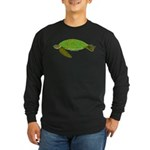 Green Sea Turtle Long Sleeve Dark T-Shirt