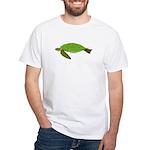 Green Sea Turtle White T-Shirt