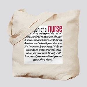Definition of a nurse Tote Bag