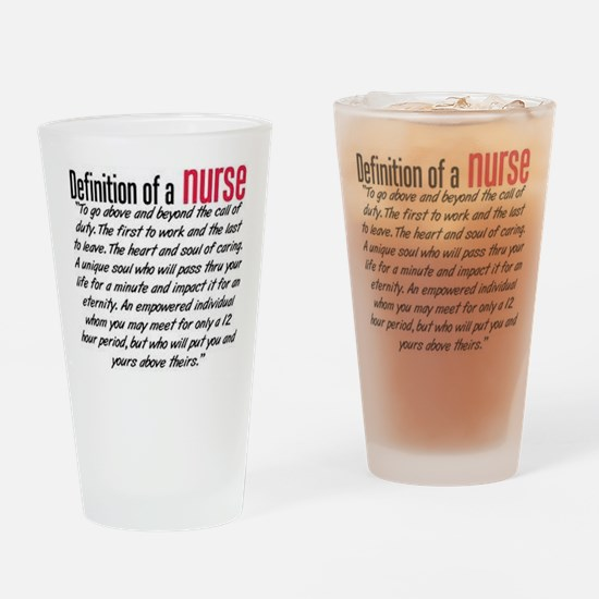 Definition of a nurse Drinking Glass