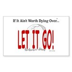Let It Go Sticker (Rectangle 10 pk)