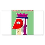 New Orleans Jazz Print Sticker (Rectangle 10 pk)