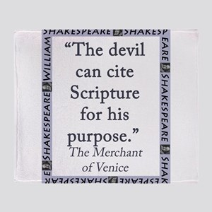 The Devil Can Cite Scripture Throw Blanket