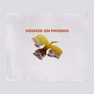 hooked on phoenix Throw Blanket
