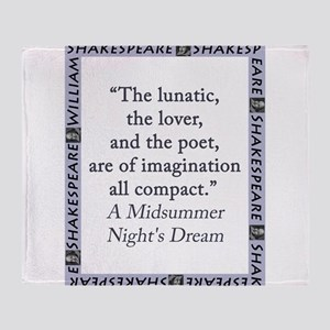 The Lunatic, The Lover and The Poet Throw Blanket