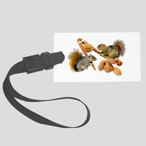 Squirrels Cracking Nuts Large Luggage Tag