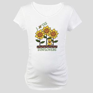 Loves Sunflowers Maternity T-Shirt