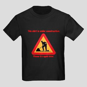 shirt under construction Kids Dark T-Shirt