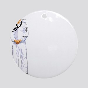 MY BOY LOOKS GOOD IN WHITE Ornament (Round)