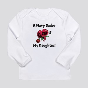 A navy Sailor Loves my Daughter Long Sleeve Infant