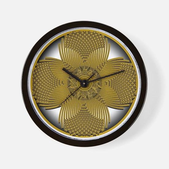 THE GOLDEN FLOWER Wall Clock