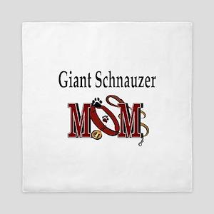 Giant Schnauzer Mom Queen Duvet