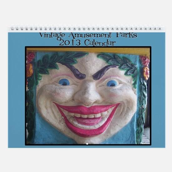 Vintage Amusement Parks 2013 Wall Calendar