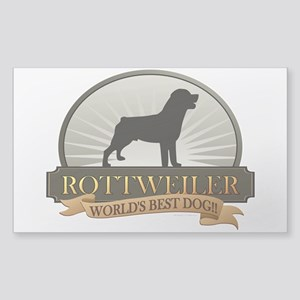 Rottweiler Sticker (Rectangle)