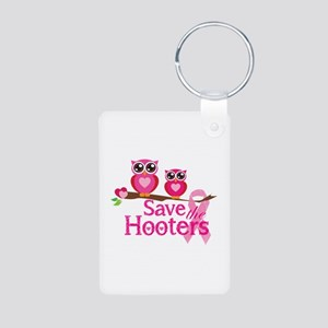 Save the hooters Aluminum Photo Keychain