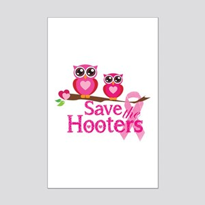 Save the hooters Mini Poster Print