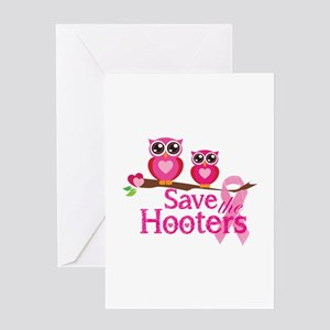 Save the hooters Greeting Card
