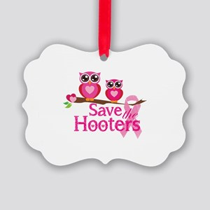 Save the hooters Picture Ornament